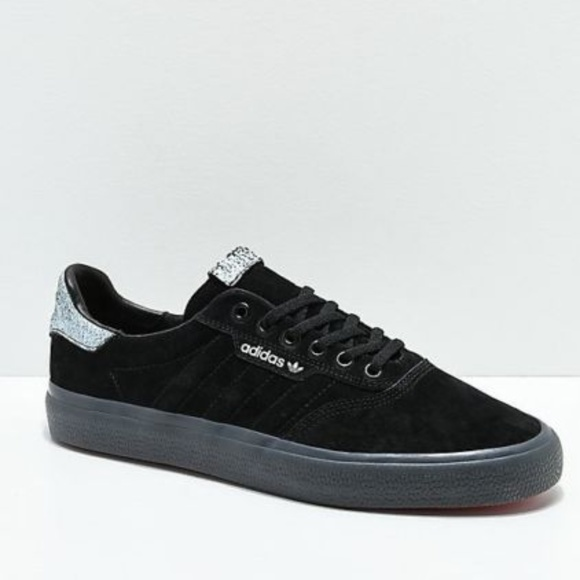 adidas Other - Adidas 3MC Skate Shoe Men's 13 Black/Red Suede